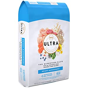 Nutro Ultra Adult Weight Management Dry Dog Food With A Trio Of Proteins From Chicken, Lamb And Salmon