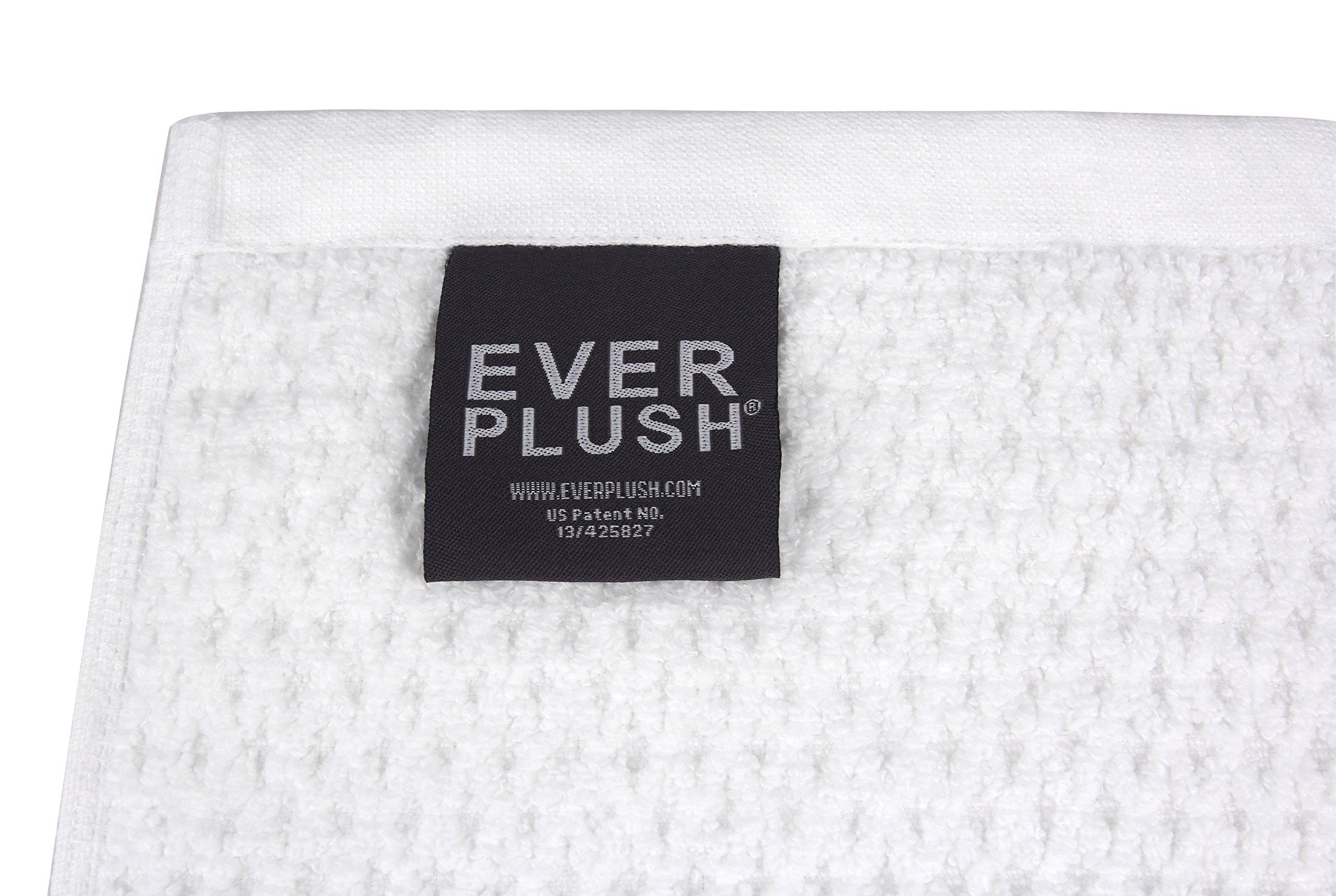 Everplush Diamond Jacquard Bath Sheet 2 Pack in White by Everplush (Image #4)