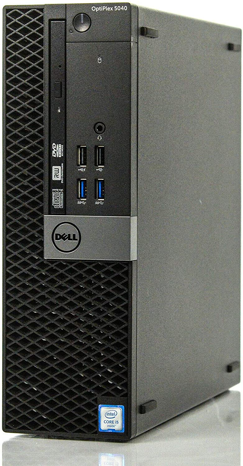 Dell Optiplex 5040-SFF, Core i5-6500 3.2GHz, 8GB RAM, 256GB Solid State Drive, DVD, Windows 10 Pro 64bit (Renewed)