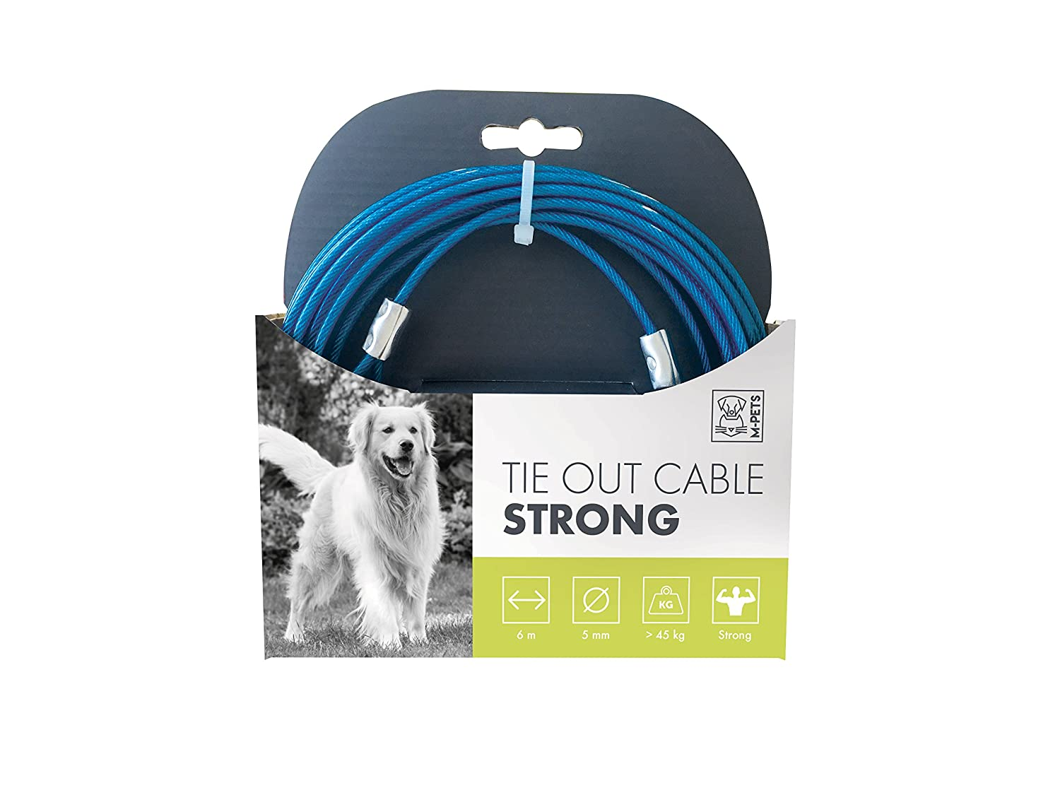 MPETS 10800299 Câble d'attache Strong pour Chien - Lot de 2