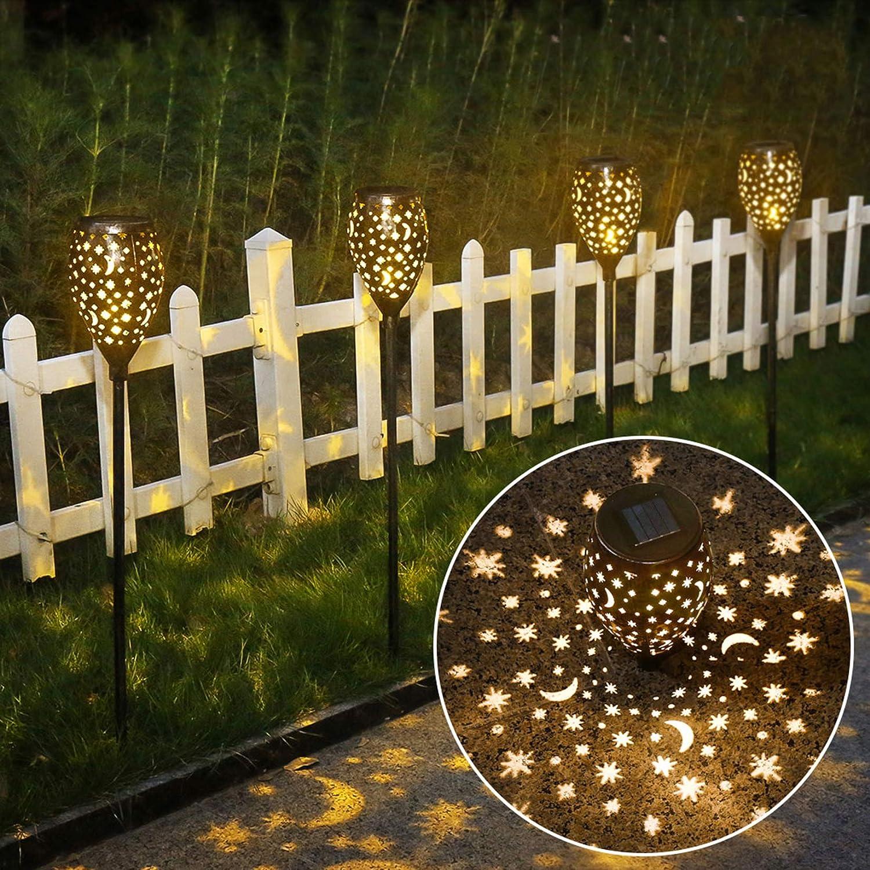 Amazon Com Newvivid Star Moon Solar Lights Decorative Solar Lamps Garden Stake Light Solar Lights Outdoor Garden Stake Light For Pathway Yard Lawn Patio Bronze 2 Pcs Home Improvement