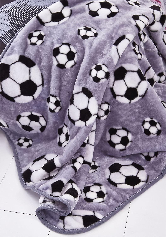 Catherine Lansfield Football Throw Grey, 120x150cm Turner Bianca BD/26104/W/120150/GY