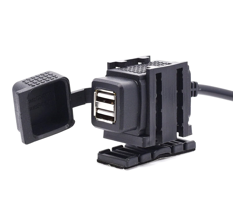 Cllena Hella DIN Powerlet Plug to Dual Port USB Charger Socket for Phone iPhone iPads GPS SatNav 5017B