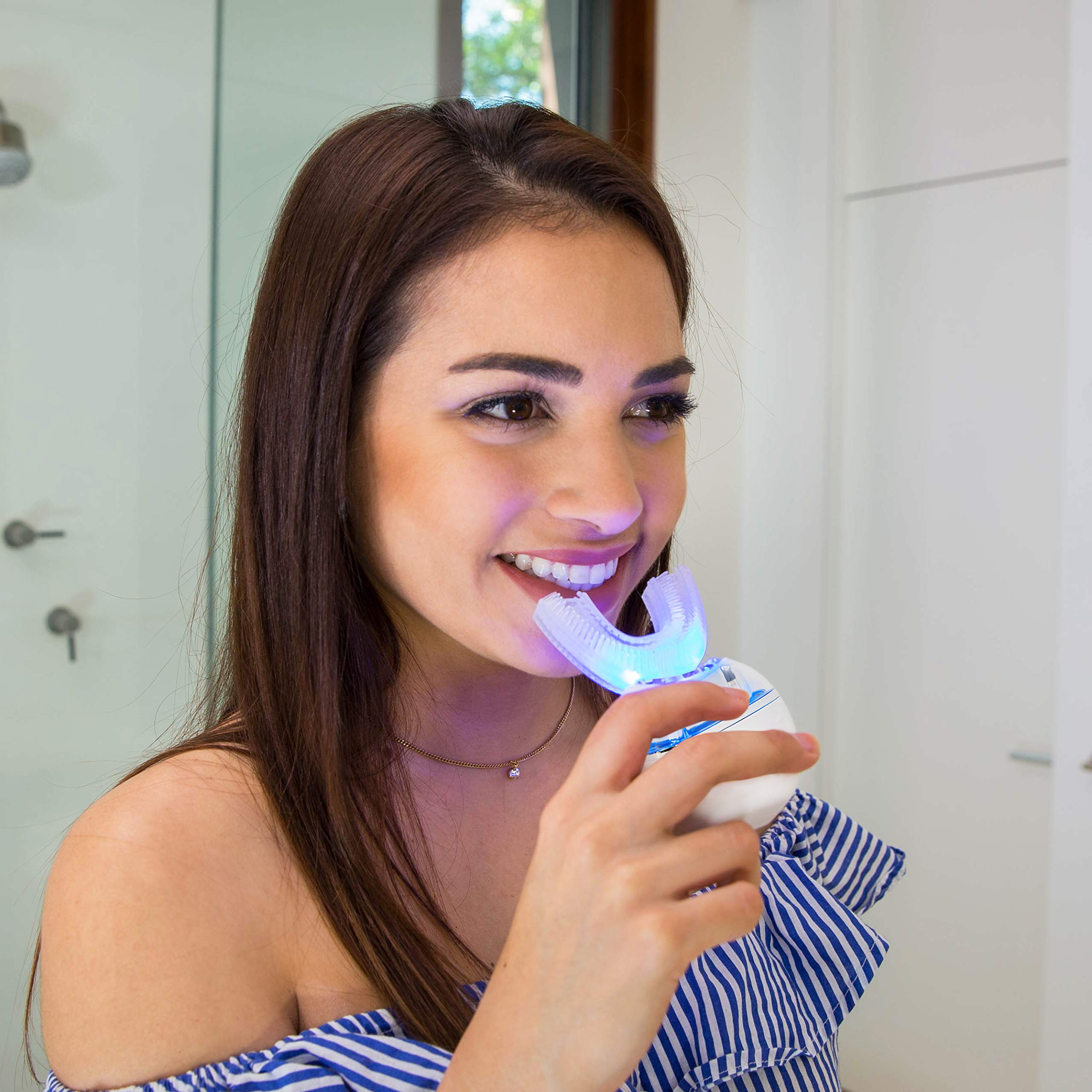 Go Smile Blu | Hands-Free Toothbrush | Teeth Whitening | Gum Massage | Sonic Blue Technology | Teal by Go Smile (Image #5)