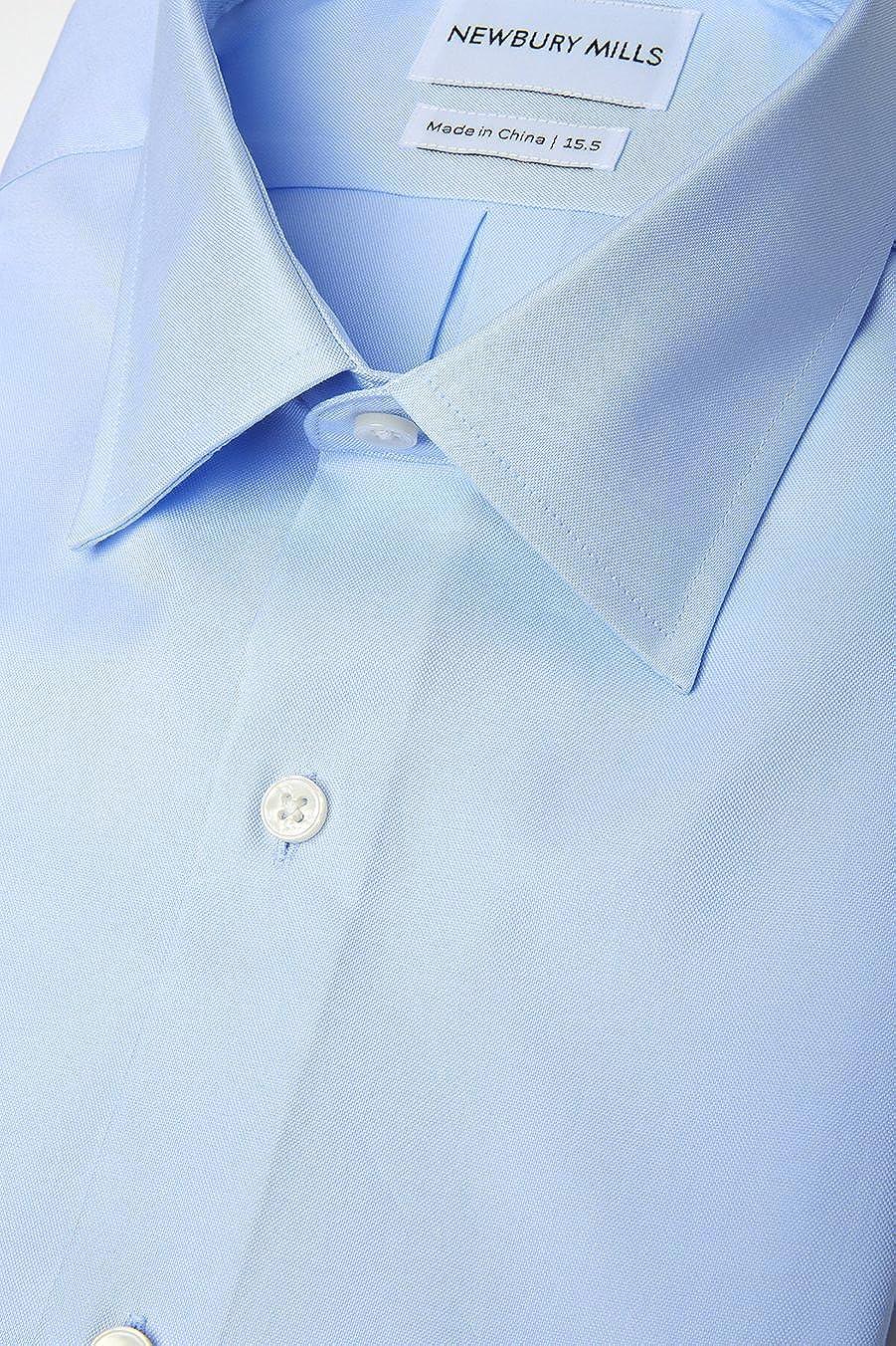 Newbury Mills Solid Blue Dress Shirt At Amazon Mens Clothing Store
