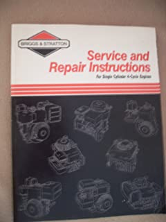 briggs stratton twin cylinder ohv engine service repair manual instant download