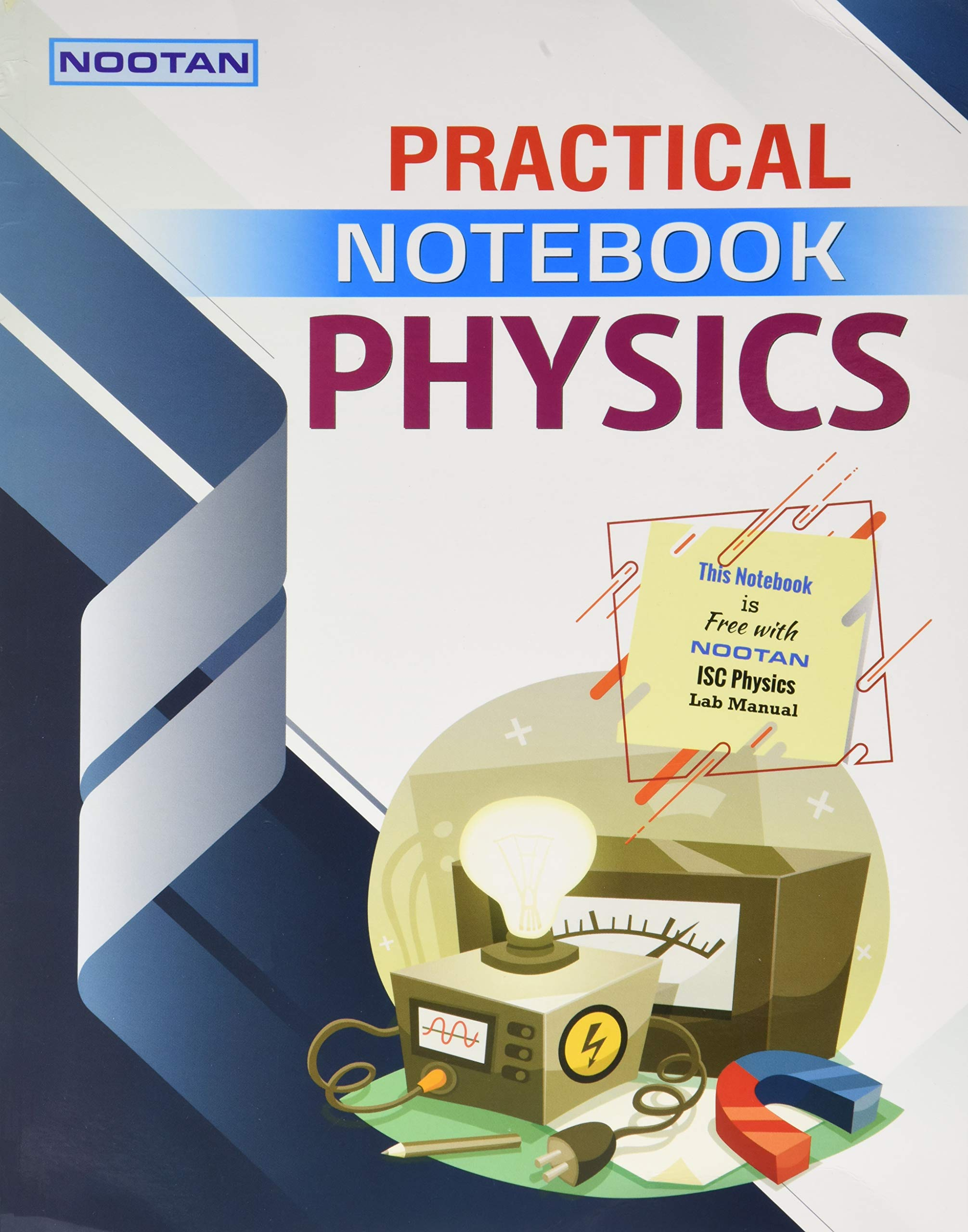 Nootan ISC Physics Lab Manual+Practical Notebook Class XII