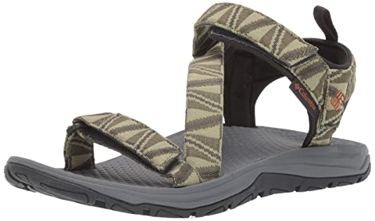 Columbia Men's Wave Train Sandal, Water Resistant, Wet-Traction Grip , cool moss, bright copper , 13 Regular US