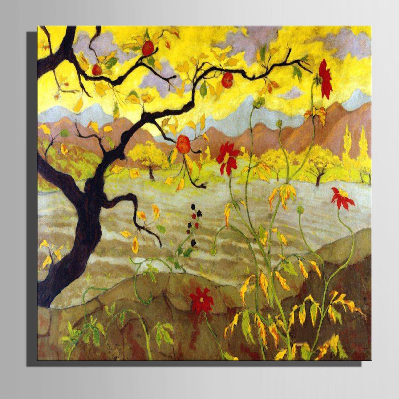 T&Q T&Qing Leinwand-Kunst Late Herbst-Wald-Landschaft-Dekoration-Malerei, Frameless Malerei, 60  60  1 B07KN3XWKY  | Perfekte Verarbeitung
