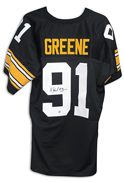 a9e27078653 Image Unavailable. Image not available for. Color  Kevin Greene Pittsburgh  Steelers Autographed Black Jersey
