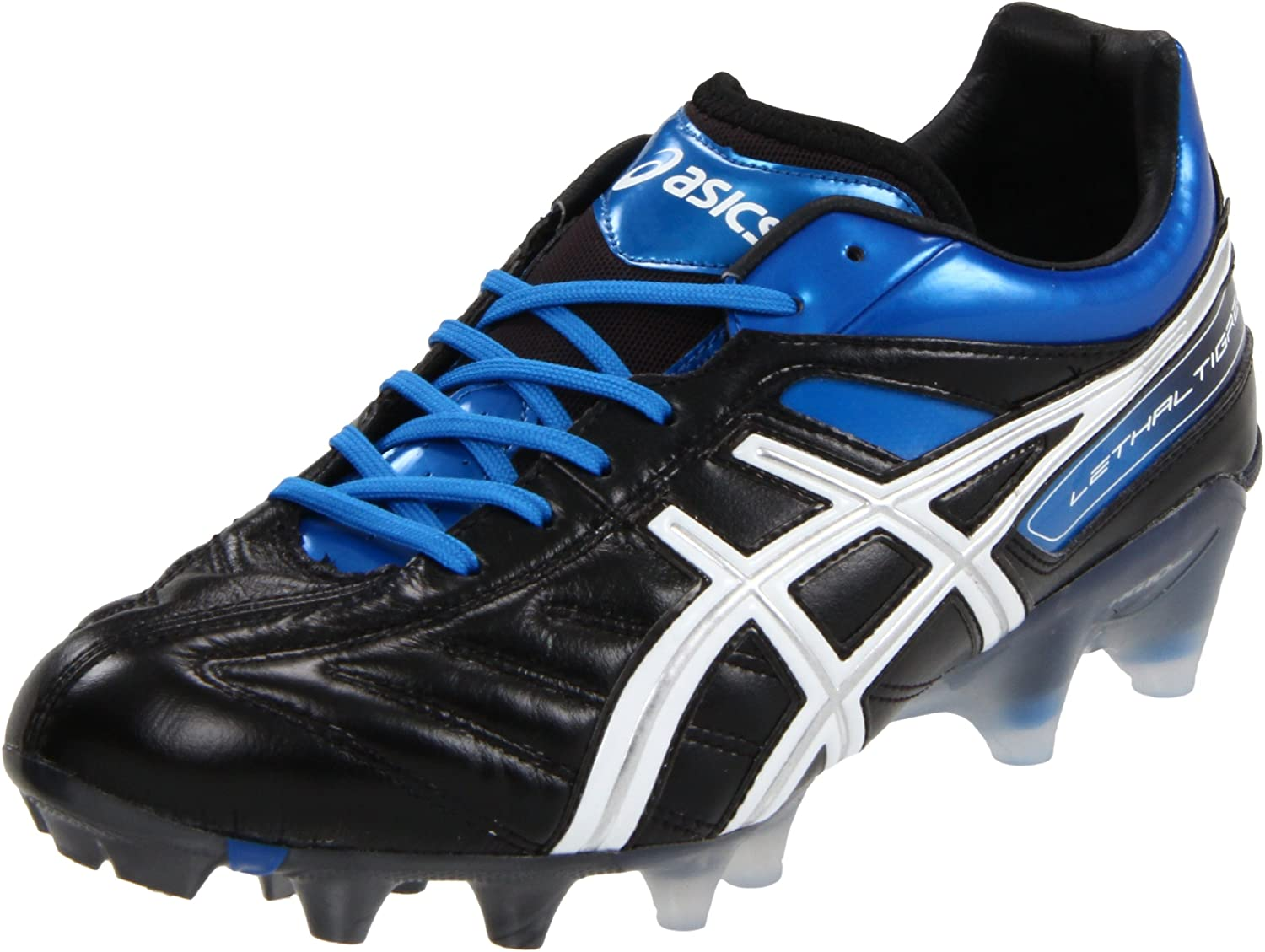 ASICS メンズ B004FV51M2 14 D(M) US|Black/White/Pacific Blue Black/White/Pacific Blue 14 D(M) US