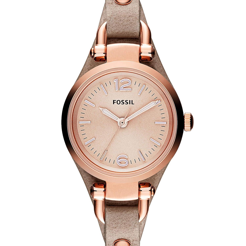 Fossil Reloj Mujer de Analogico con Correa en Cuero ES3262P: Fossil: Amazon.es: Relojes