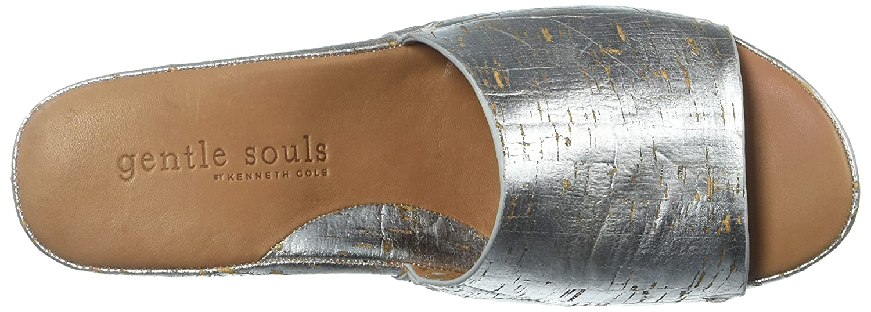 857893f827 Amazon.com | Gentle Souls by Kenneth Cole Women's Forella Platform Slip On Sandal  Sandal, silver, 8.5 M US | Slides