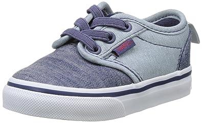 Vans Baby Jungen TD Atwood Slip-on Sneaker, Grau (Chambray Black/Gray), 24 EU