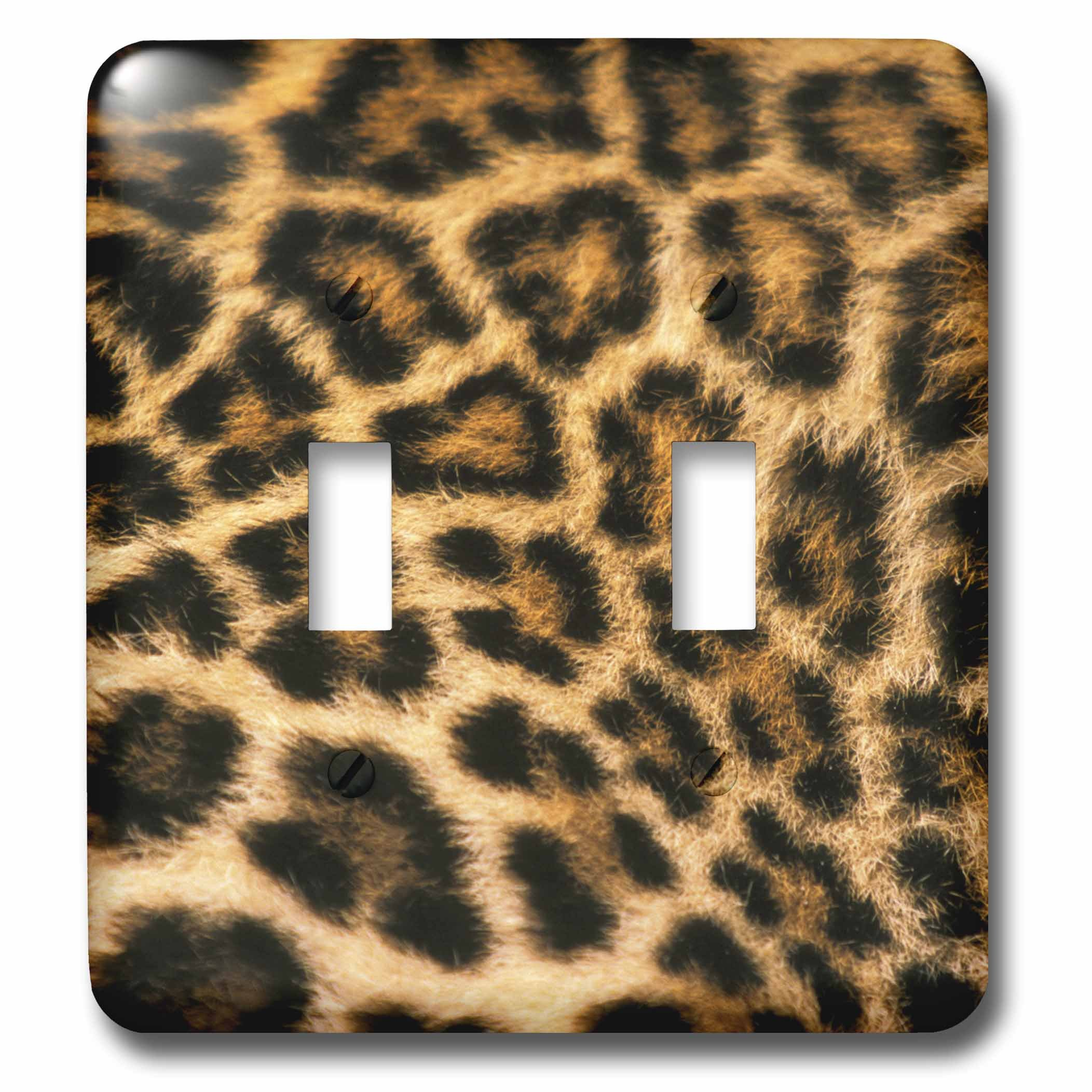 3dRose lsp_84695_2 Fur Detail of Asian Leopard Na02 Sws0050 Stuart Westmorland Light Switch Cover
