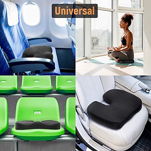 Amazon.com: XIAOBUDIAN Elastic Foam Pad Black Viscoelastic Foam Seat Orthopedic Pad for Car Seats, Office Chairs, Wheelchair Cushions: Home & Kitchen