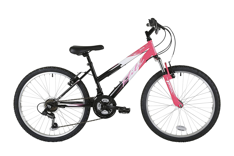 Ruedas de 24 Color Negro//Rosa Flite fl075t ni/ña Barranco Bicicleta