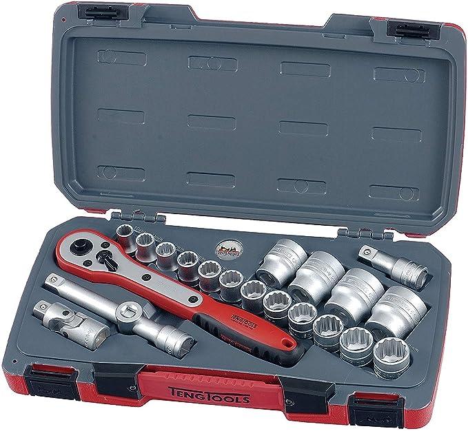 Teng TT1217 40575 1//2-inch Reg Metric 12p Socket Set Drive 17 Pieces