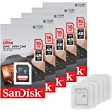 5 Pack - SanDisk Ultra 16GB SD SDHC Memory Flash Card UHS-I Class 10 Read Speed up to 48MB/s 320X SDSDUNB-016G-GN3IN Wholesal