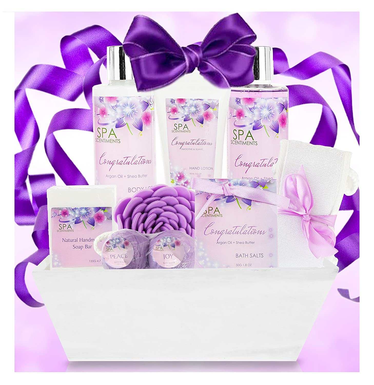 Nurture Me Organics Congratulations Gifts for Women Gift Spa Gift Basket - Gifts for Graduation, Baby Shower, New Home, New Job. Celebrate Every Milestone with Congratulations Gift Baskets for Women!