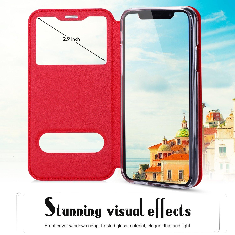 FYY iPhone X M/óvil para Apple iPhone X A-Gold iPhone X Case Funda Carcasa Case Cover Funda Funda de Piel sint/ética ecol/ógica de Calidad