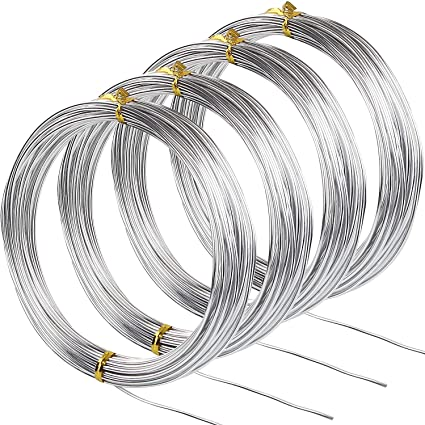 Copper, 1 mm Thickness 32.8 Feet Aluminum Wire Bendable Metal Craft Wire for Making Dolls Skeleton DIY Crafts