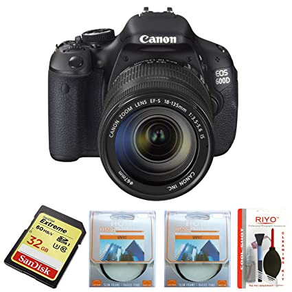 Canon EOS 600D (EF-S 18-55IS II & EF-S 55-250IS II) Combo Kit with SD Card  and Camera Bag