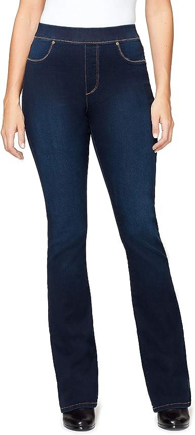 Gloria Vanderbilt Women S High Rise Pull On Boot Cut Jean At Amazon Women S Jeans Store