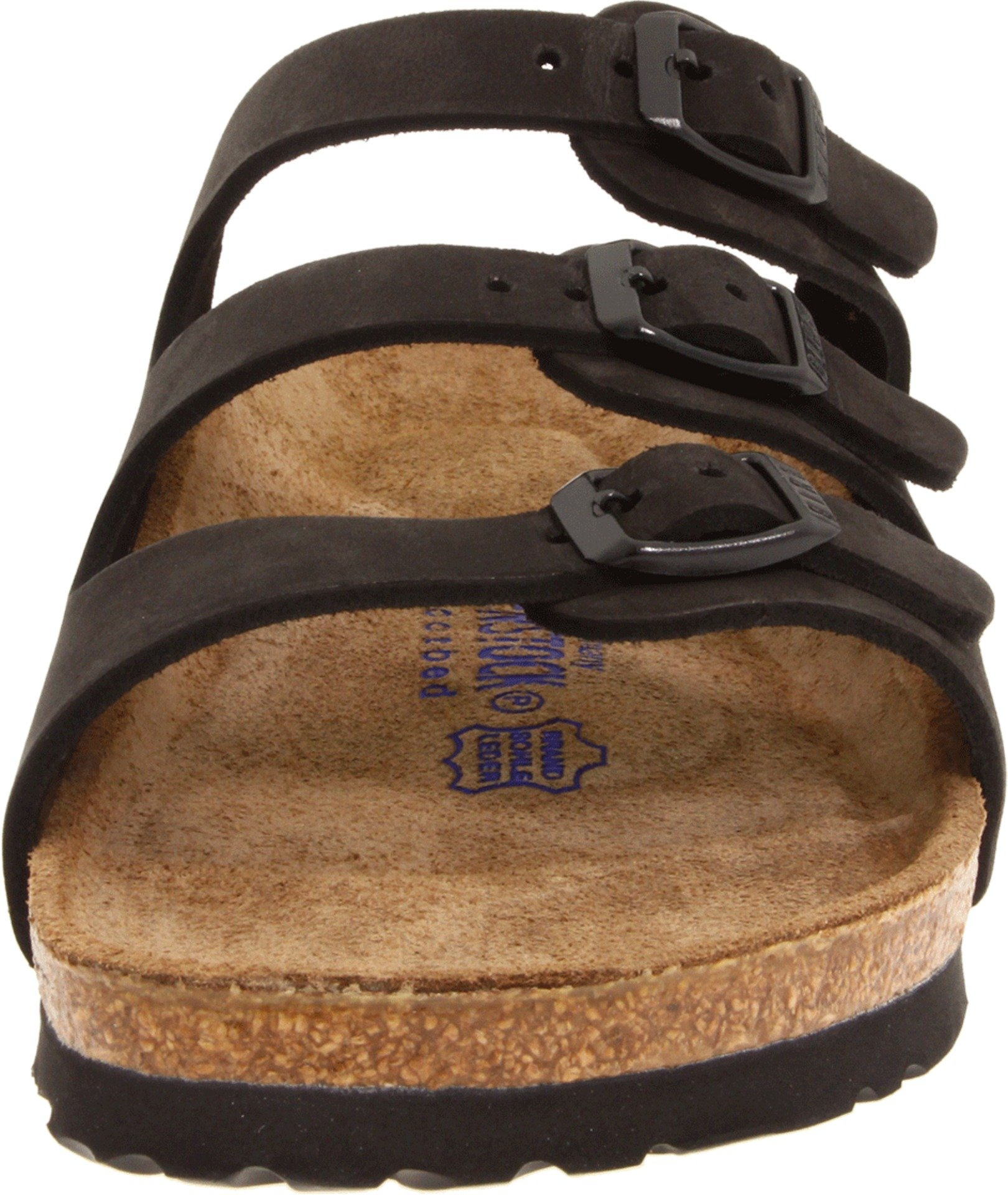 Birkenstock Women's Florida Soft Footbed Birko-Flor  Black Nubuck Sandals - 37 M EU / 6-6.5 B(M) US by Birkenstock (Image #4)