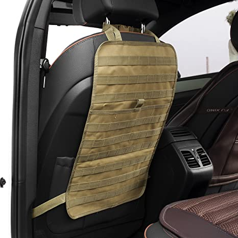 Tactical Molle Car Seat Organizer Seat Back Organizer Car Seat Cover Protector