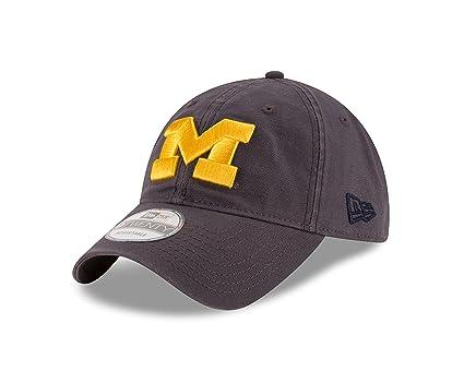 new product 06792 d25e5 New Era NCAA Michigan Wolverines Unisex NCAA Grayed Shore 9TWENTY  Adjustable Cap, Gray, One