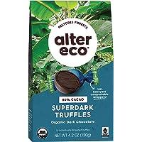 Alter Eco   Superdark Chocolate Truffles   Pure Dark Cocoa, Fair Trade, Organic, Non-GMO, Gluten Free (10 Count (Pack of…