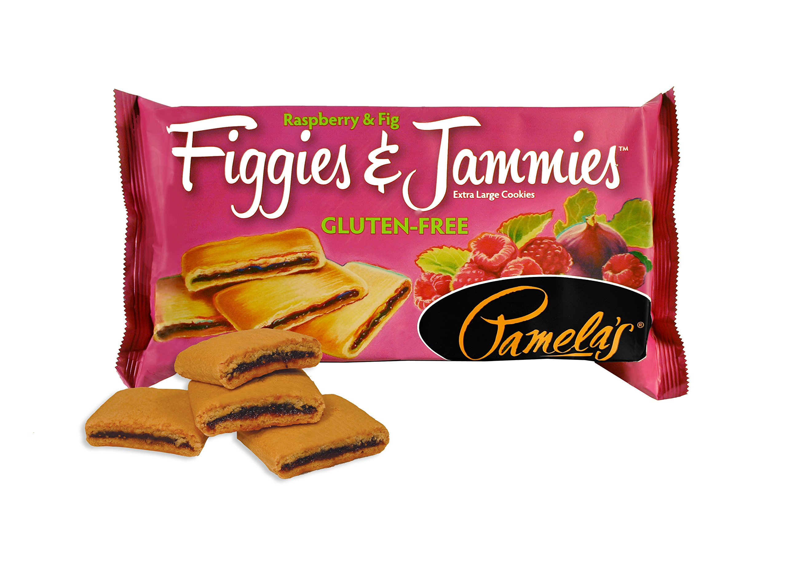Pamela's Products Gluten Free Figgies & Jammies Cookies, Raspberry & Fig, 9 Ounce (Pack of 6) by Pamela's Products