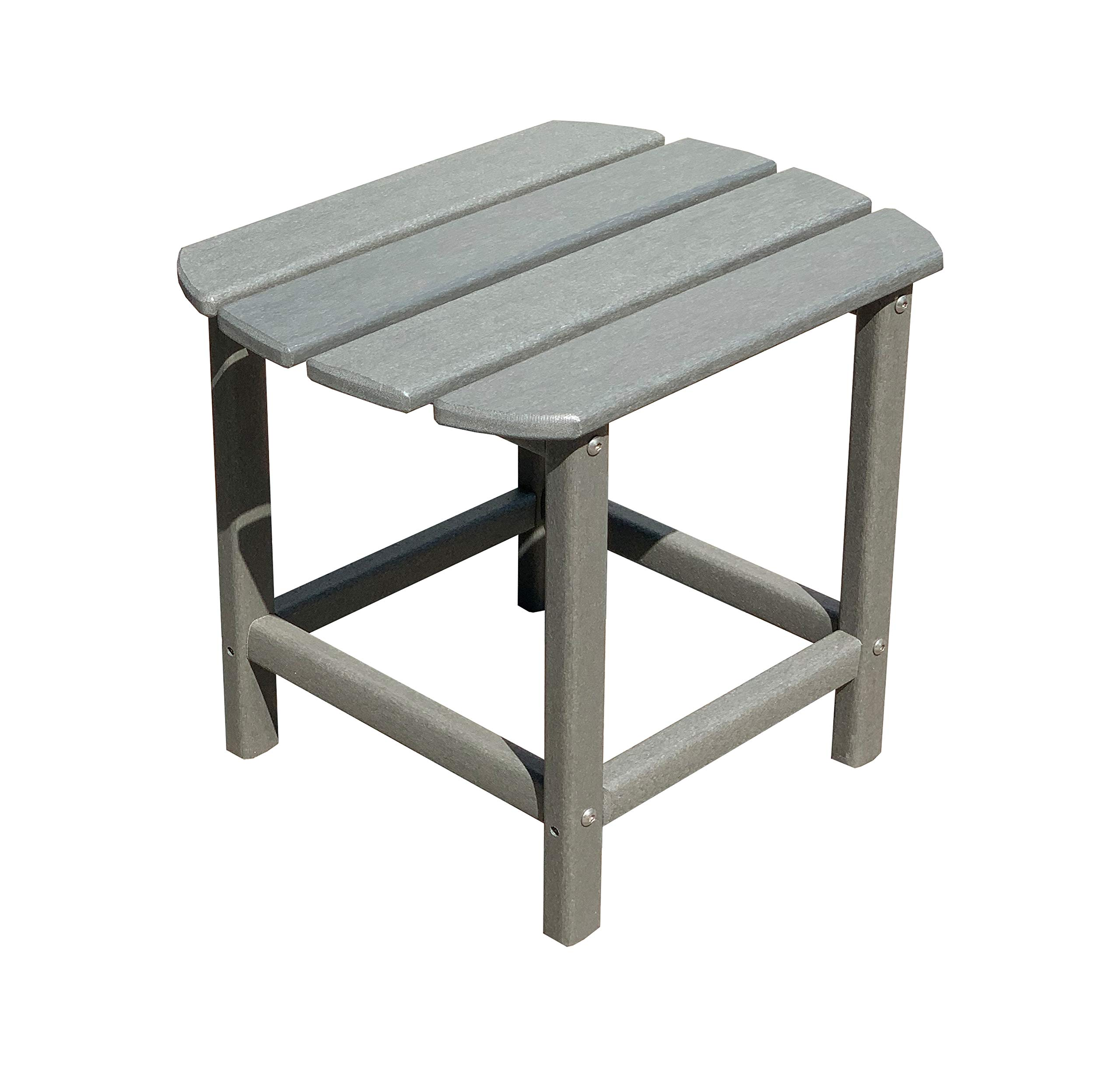 LuXeo LUX-1520-GRY-ST Corona Recycled Plastic Side Table, Gray by LuXeo