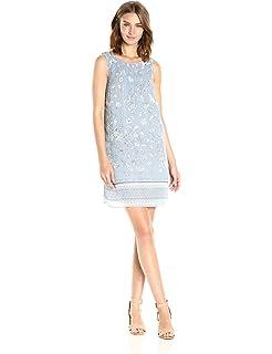 b8a138a2d364cc Amazon.com: Max Studio Women's Pleated Printed Matte Jersey Dress ...