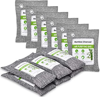 12 Pack Activated Charcoal Bags Odor Absorber for Home Office Fridge Air Purifier Odor Eliminator Room Deodorizers Kids and Pets Friendly Shoes Car Bamboo Charcoal Air Purifying Bags