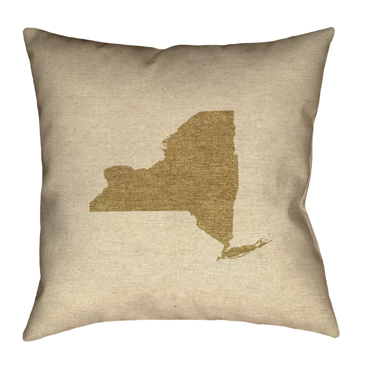 Double Sided Print with Concealed Zipper /& Insert ArtVerse Katelyn Smith New York Canvas 20 x 20 Pillow-Faux Linen Updated Fabric