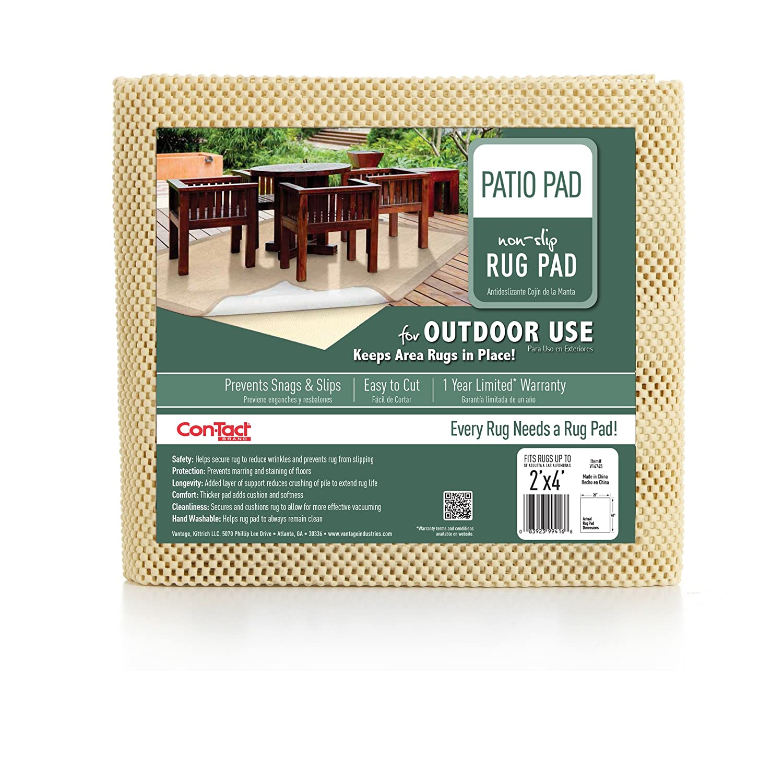 Con-Tact Brand Rectangular Outdoor Patio Rug Pad, 3 x 5