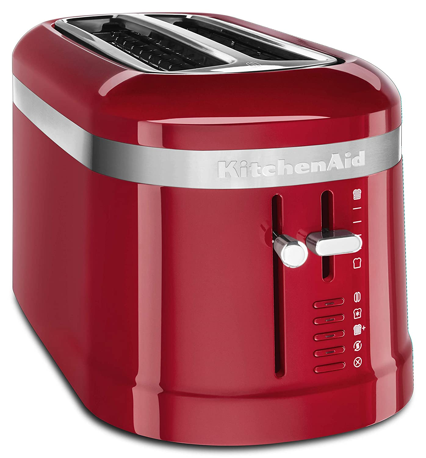 KitchenAid KMT5115ER 4 Slice Long Slot High-Lift Lever Toaster, Empire Red