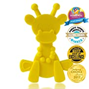 Baby Teething Toy Extraordinaire - Little Bambam Giraffe Teether Toys by Bambeado. Our BPA Free Teethers Help take The Stress Out of Teething, from Newborn Baby Through to Infant -Yellow