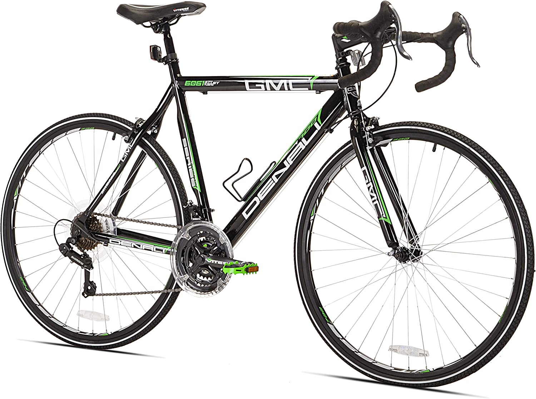 GMC Denali Bicicleta de Carretera, Negro/Verde: Amazon.es ...