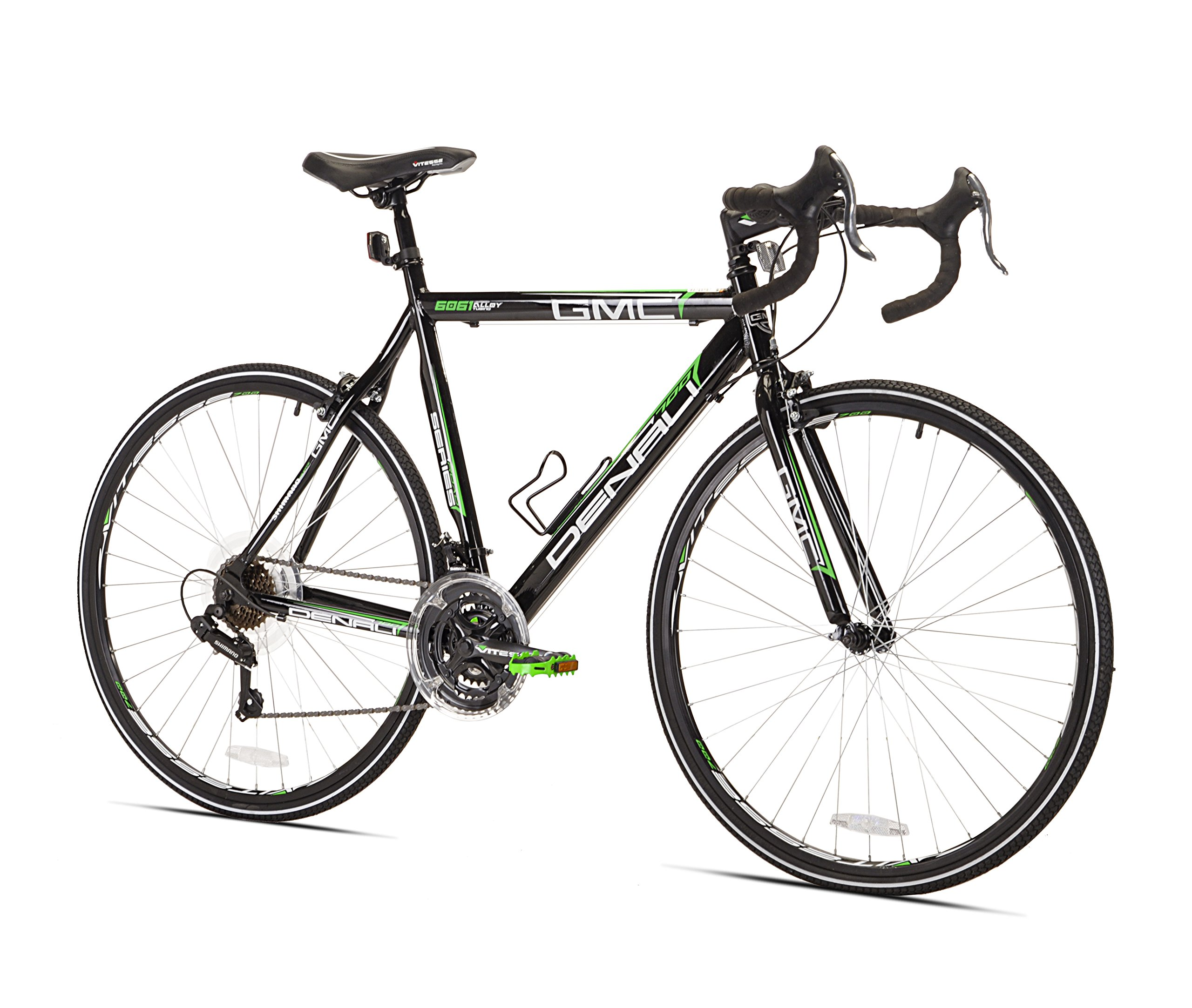 GMC Denali Road Bike Black/Green 20-Inch/Small 21 Speed Shimano Revo ...