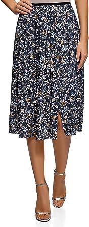oodji Ultra Mujer Falda con Pliegues Cruzada: Amazon.es: Ropa y ...