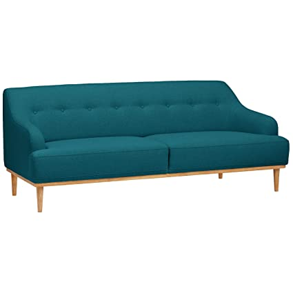 Astonishing Rivet Alvin Contemporary Sofa Couch 81W Aqua Teal Blue Pdpeps Interior Chair Design Pdpepsorg