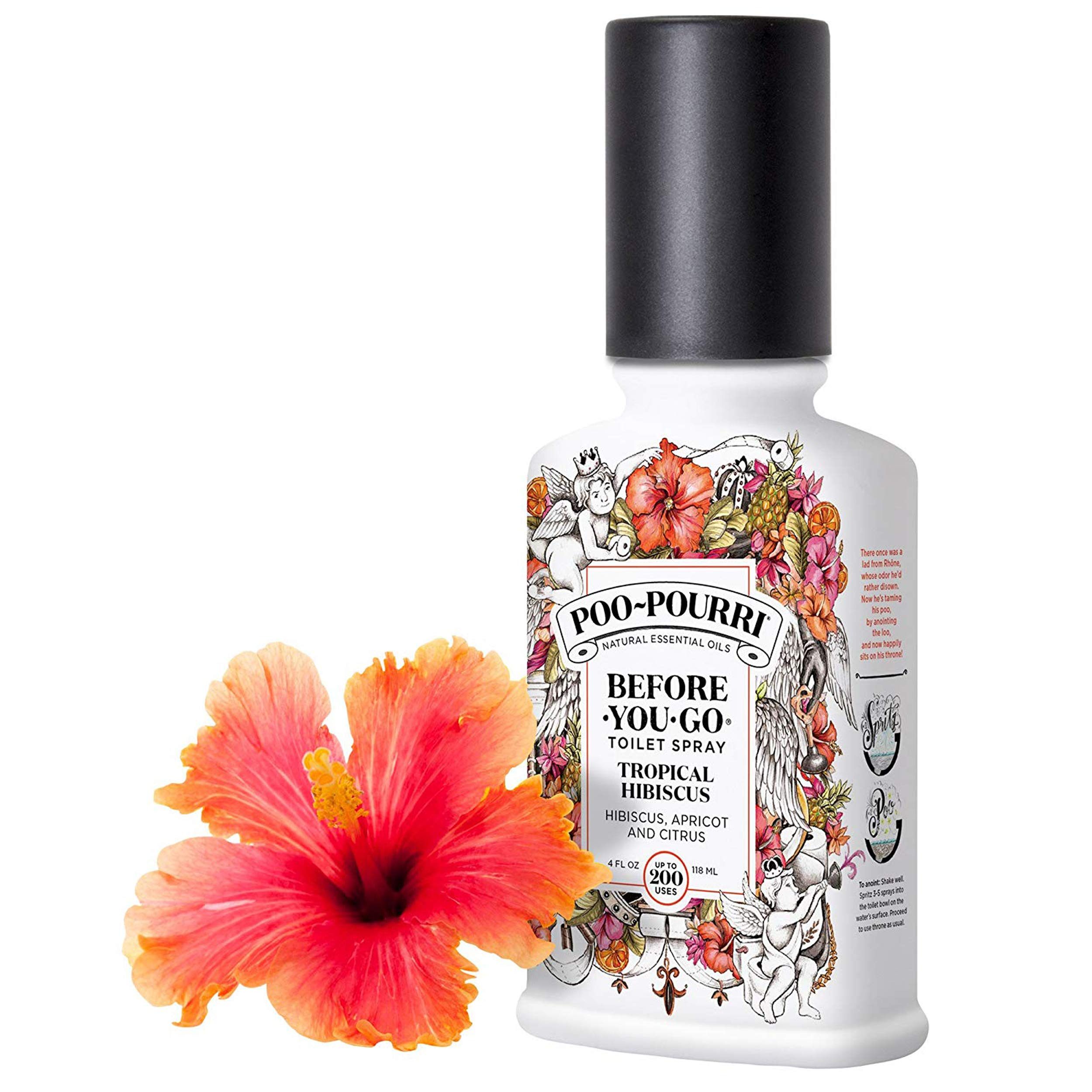 Poo-Pourri Lavender Vanilla, Tropical Hibiscus and Vanilla Mint 4-Ounce Set by Poo-Pourri (Image #5)