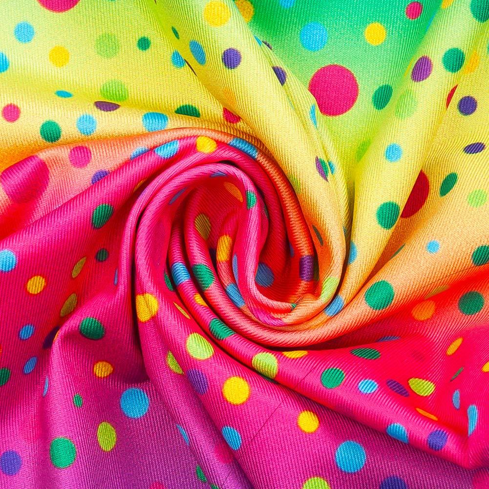 Rayas Sirena Cinco Colores Traje de ba/ño de 3 Piezas para ni/ña,Conjunto con Cola de Sirena,Patr/ón de Rayas,Chaleco de ba/ño Escamas de pez Lunares