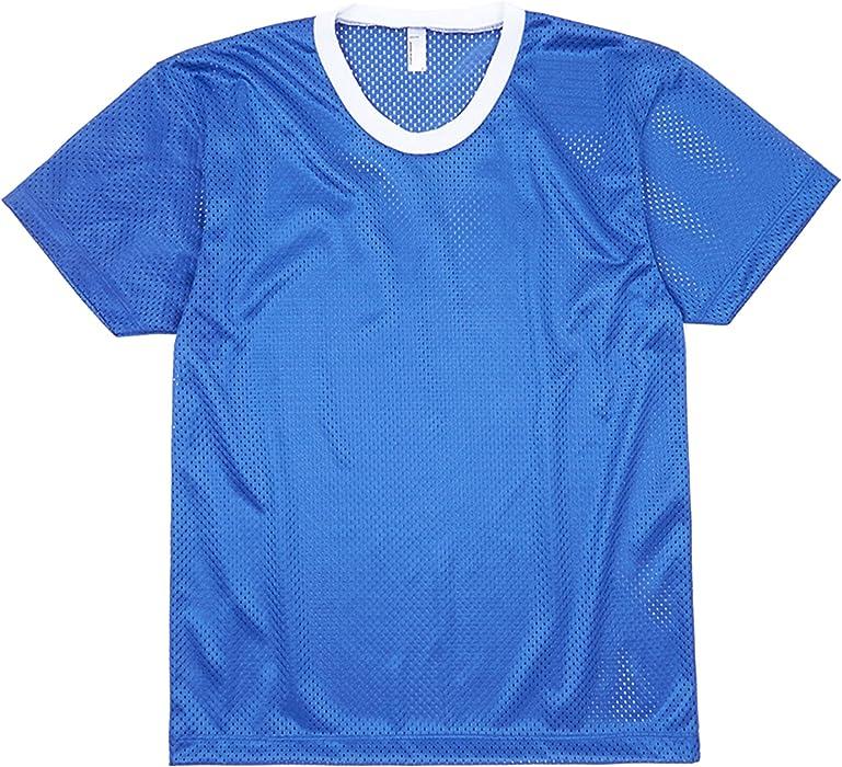 a42811b483d065 American Apparel Unisex Lightweight Short Sleeve Mesh T-Shirt (S) (Royal