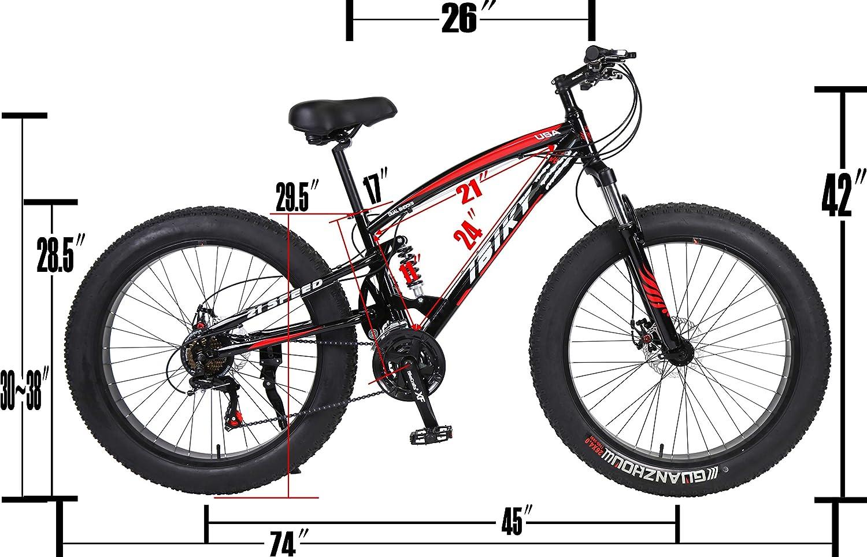 IBIKY Bicicleta de montaña de 26 Pulgadas, Bicicleta híbrida de ...