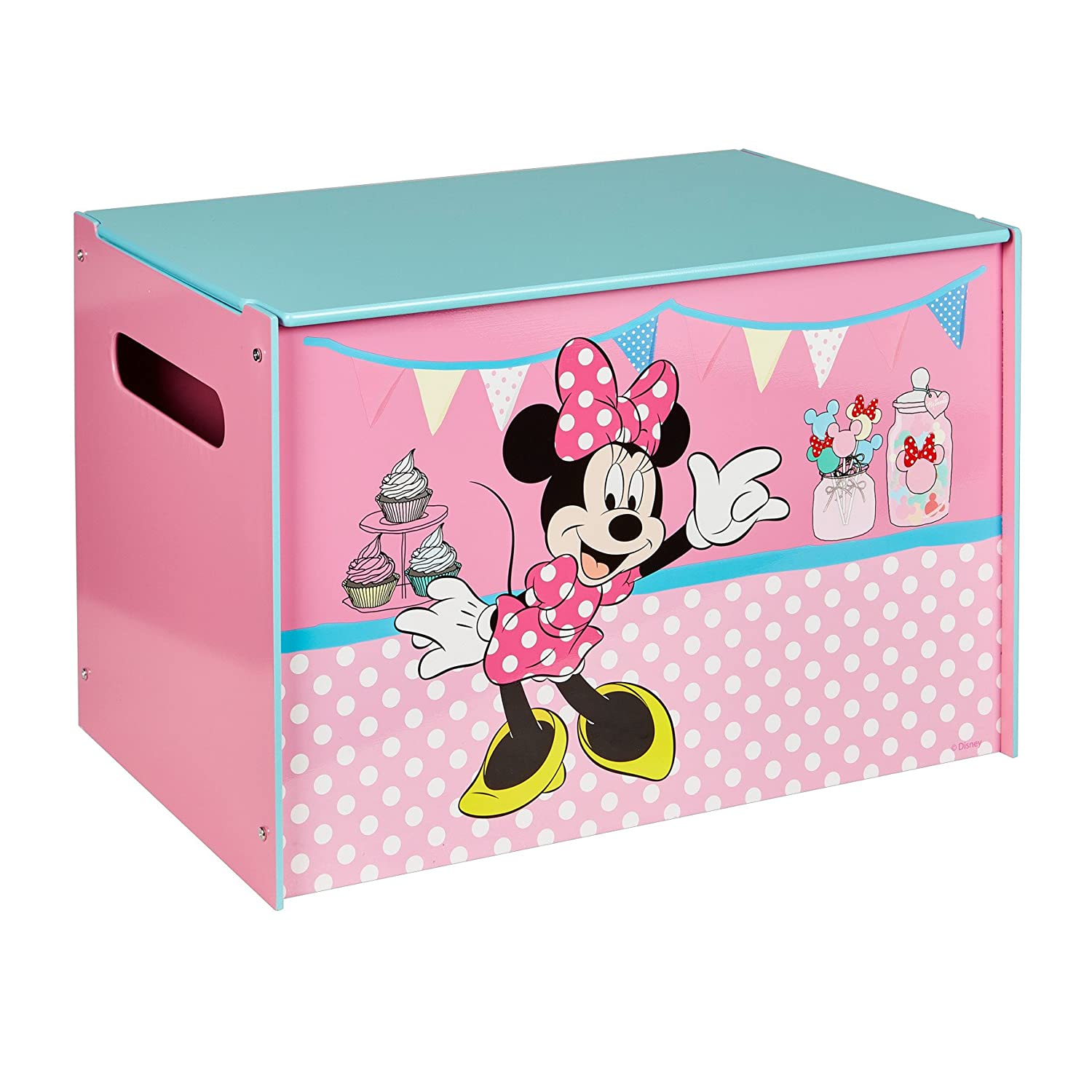 Disney Minnie Mouse Kids Toy Box   Childrens Bedroom Storage Chest With  Bench Lid By HelloHome