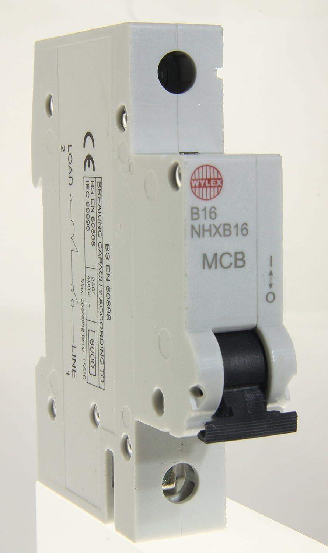 Wylex MCB 16A SP Type B